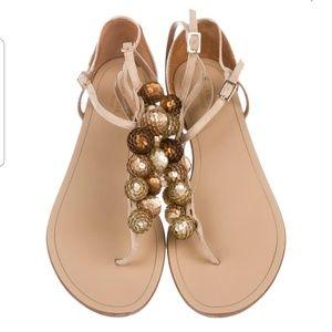 NWT AQUAZZURA  Embellished Suede Sandals